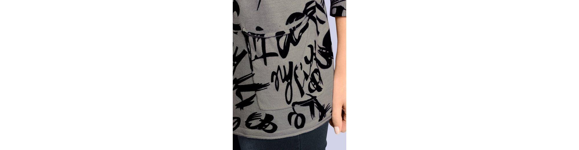 Alba Moda Oversized-Pullover mit Schriftendruck Grau-Outlet-Store Online Preiswerte Neue Aus Deutschland Freies Verschiffen Des Niedrigen Preises f4gLuwneN