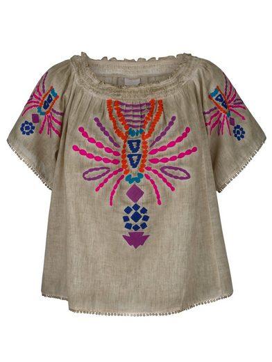 Alba Moda Bluse im Folklore-Stil