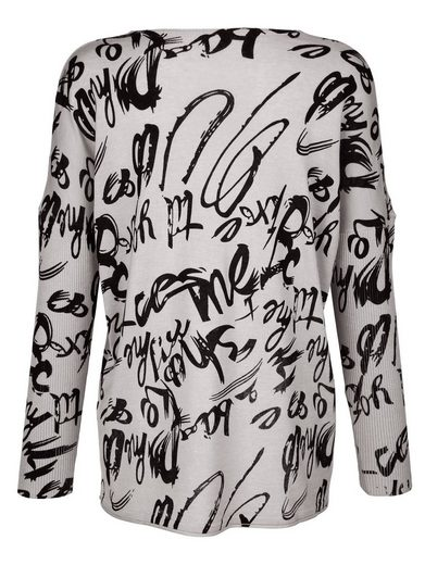 Alba Moda Oversized-Pullover mit Schriftendruck