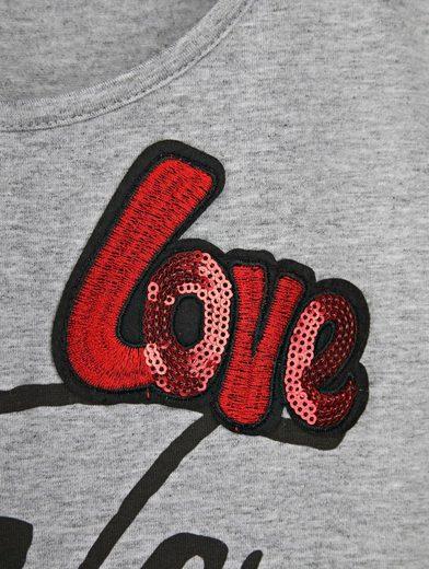 Amy Vermont Shirt mit Schriftzug und Patch