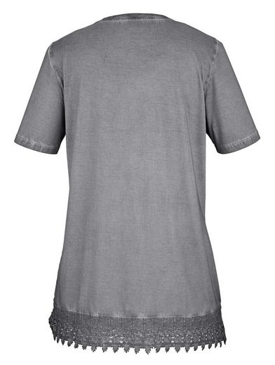 MIAMODA Longshirt mit Häkelspitze