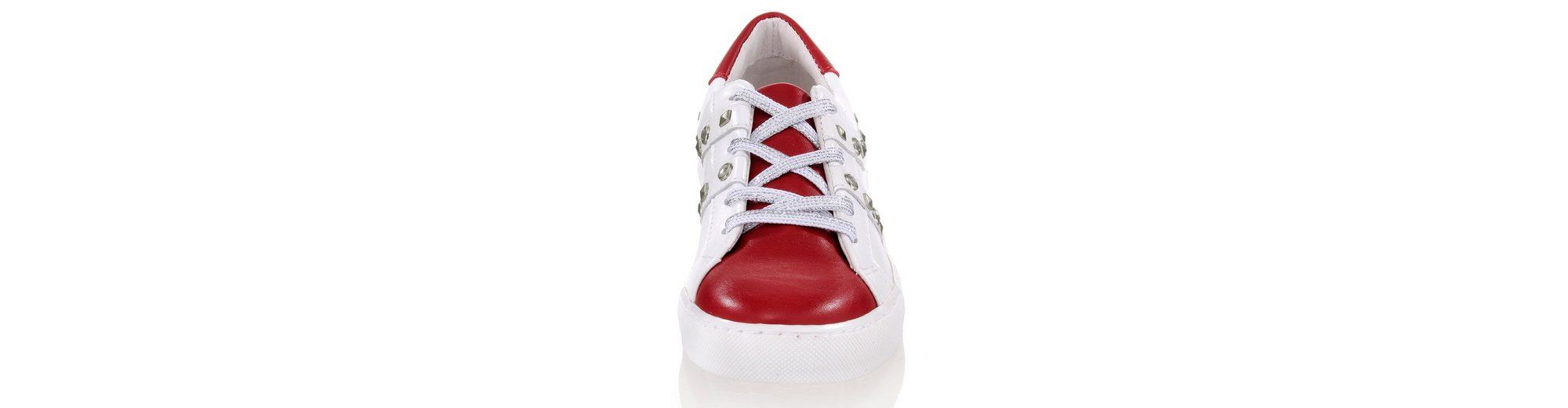 Günstig Kaufen 2018 Neue Neue Stile Günstiger Preis Alba Moda Sneaker mit silberfarbenen Nieten Empfehlen Rabatt Freies Verschiffen 100% Authentisch Eh62b