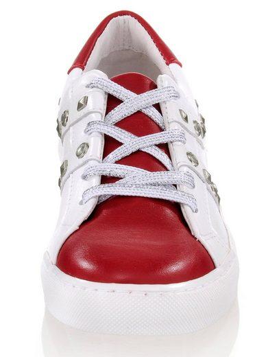 Alba Moda Sneaker mit silberfarbenen Nieten