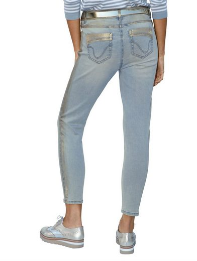 Amy Vermont 7/8-Jeans mit Details in goldener Farbe