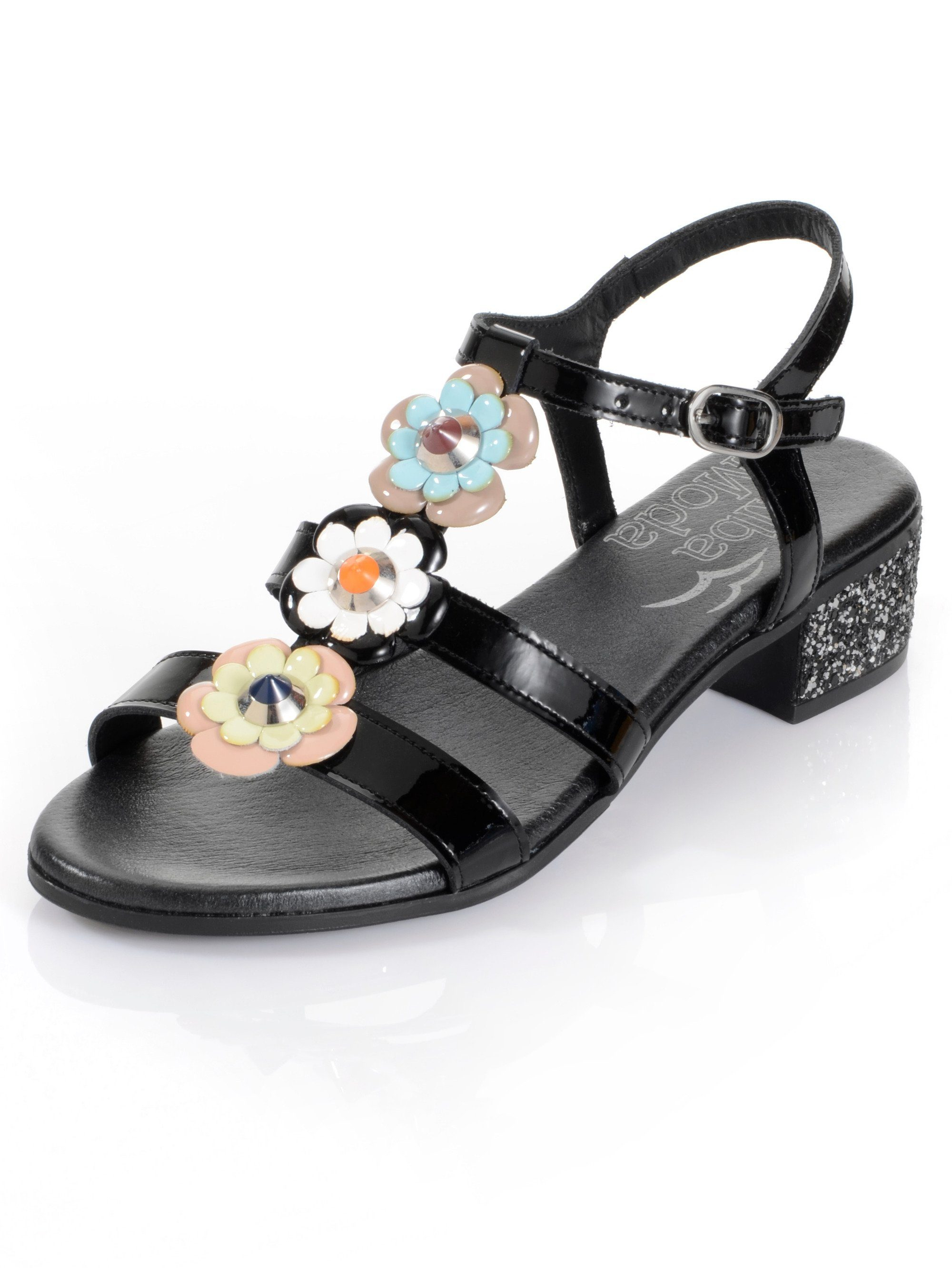 Alba Moda Sandalette aus Lackleder online kaufen  schwarz#ft5_slash#multi