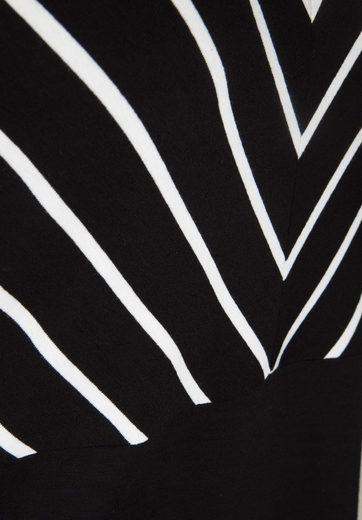 Doris Streich T-Shirt mit gestreiften Einsätzen, Einsätze