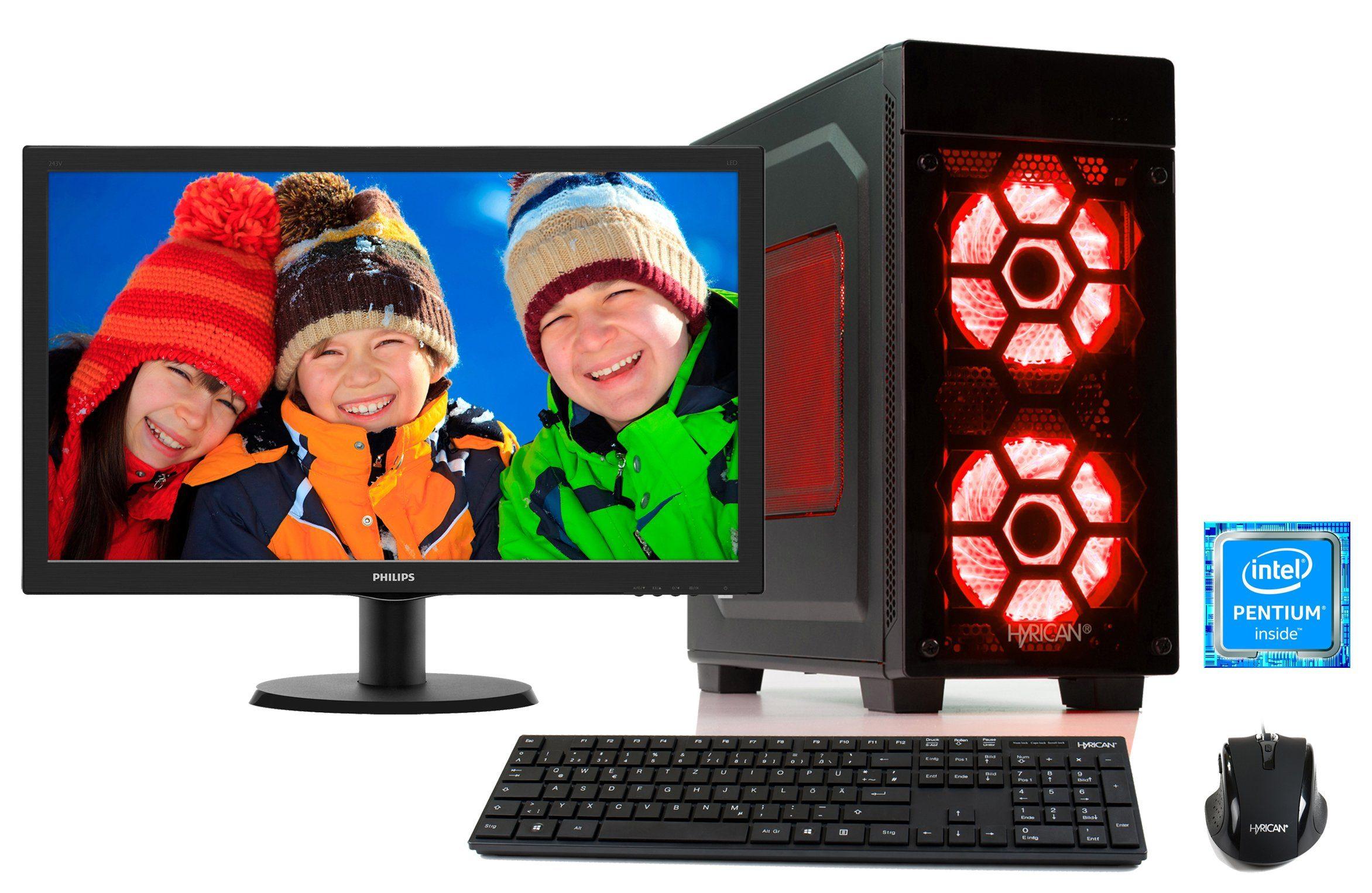 HYRICAN PC Pentium® G4600, 8GB, HDD, GeForce® GTX 1050 Ti + Monitor »Striker SET1289«