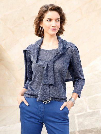 Mona Pullover aus schimmerndem Glanzgarn