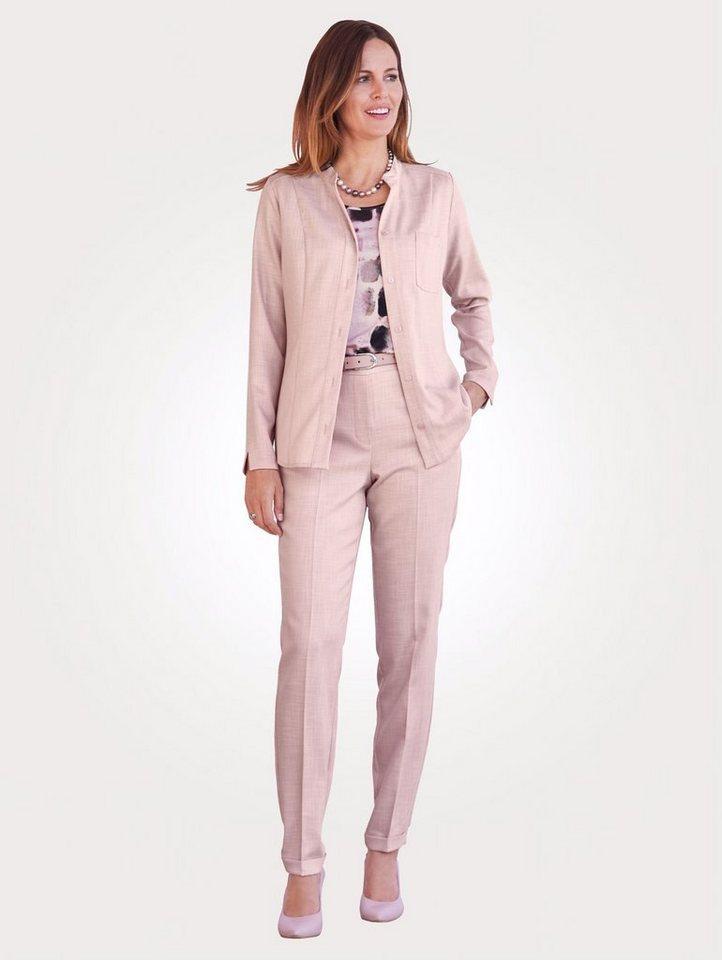 dauerhafte Modellierung Online bestellen Farbbrillanz Mona Hosenanzug in edler Leinenoptik, Bestehend aus Hose und Blusenjacke  online kaufen | OTTO