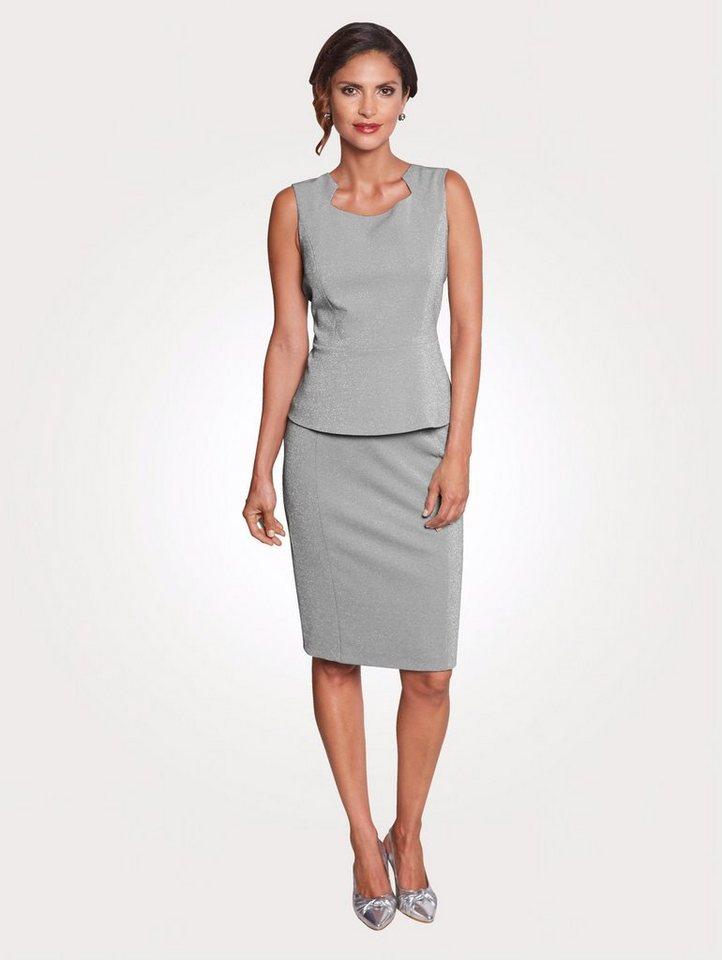 Mona Jerseyrock mit schimmerndem Glanzgarn | Bekleidung > Röcke > Jerseyröcke | Mona