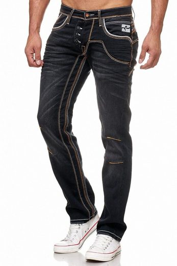 Rusty Neal Jeans With Wide Seams