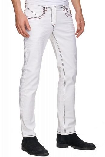 Rusty Neal Jeans mit kontrastierten Nähten