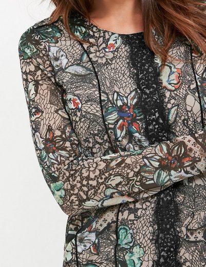Gerry Weber T-Shirt 1/1 Arm Longsleeve aus bedrucktem Mesh