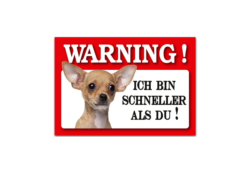 HTI-Line Blechschild Wachhund »Chihuahua«