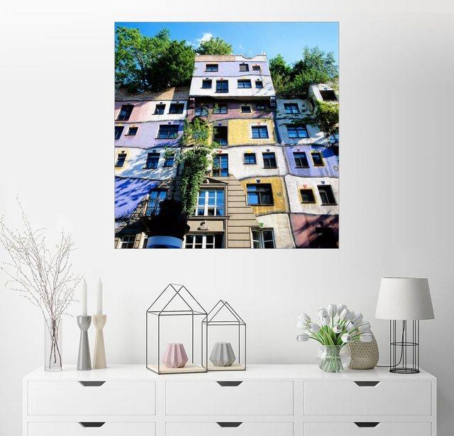 Posterlounge Wandbild - Stuart Black »Hundertwasserhaus, Wien« | Dekoration > Bilder und Rahmen > Bilder | Bunt | Posterlounge