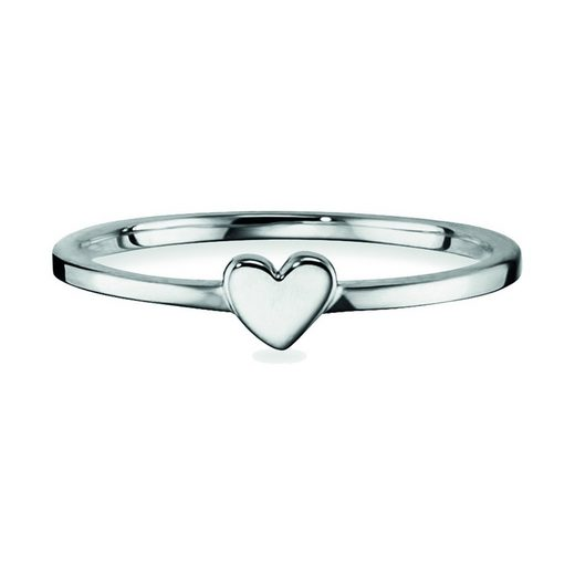 CAÏ Fingerring »925/- Sterling Silber rhodiniert Herz«, Ring