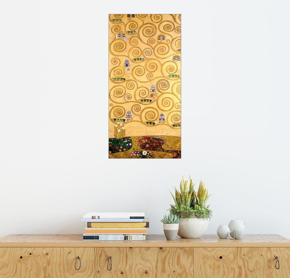 Posterlounge Wandbild - Gustav Klimt »Der Lebensbaum (linker äußerer Teil)«