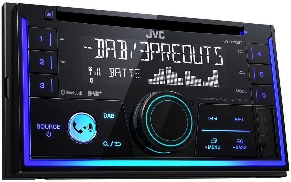 JVC 2-DIN Digital Media Receiver mit DAB+, Bluetooth, CD, USB »KW ...