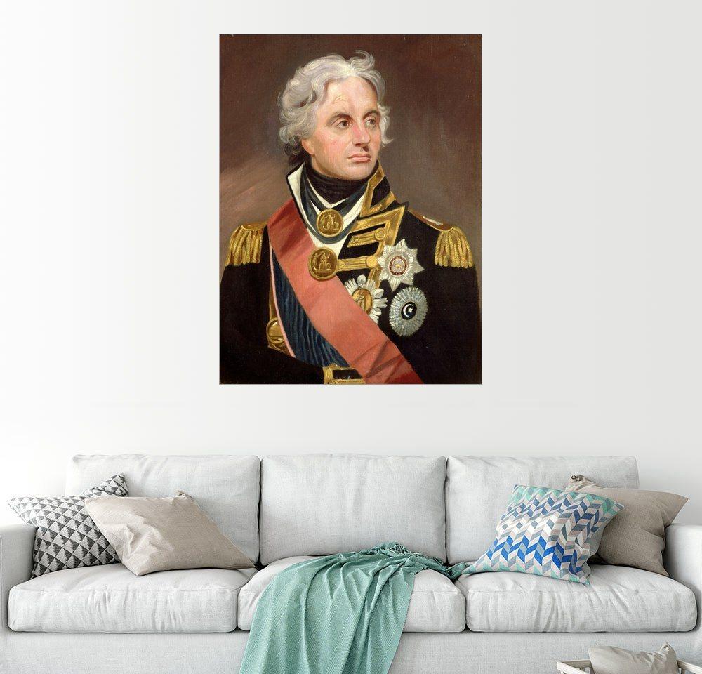 Posterlounge Wandbild - Sir William Beechey »Lord Nelson« | Dekoration > Bilder und Rahmen > Bilder | Holz | Posterlounge