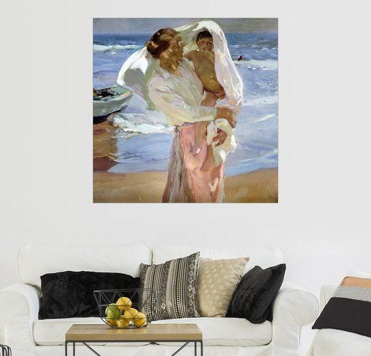 Posterlounge Wandbild - Joaquin Sorolla y Bastida »Gerade aus dem Meer«