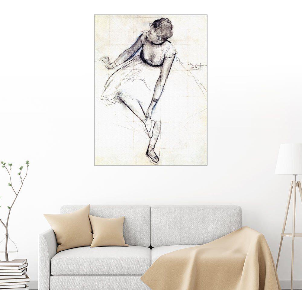 Posterlounge Wandbild - Edgar Degas Tänzerin bindet ihren Schuh