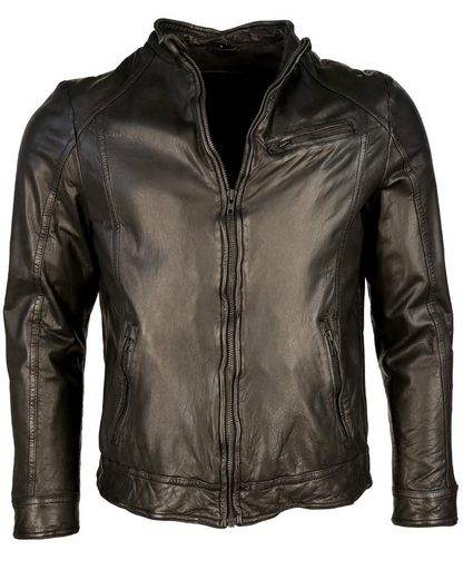 TOM TAILOR Lederjacke im Bikerstil TTM8004