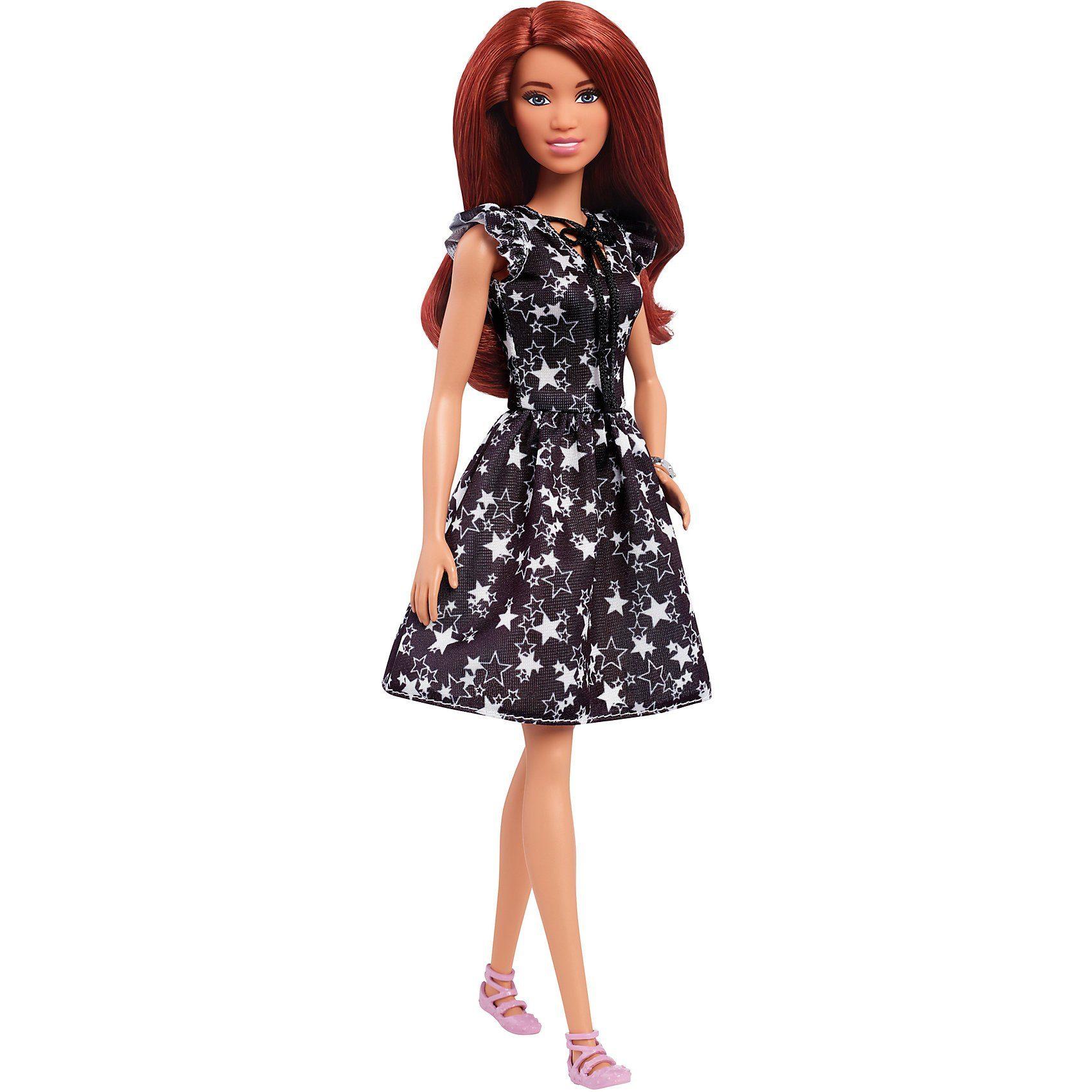 Mattel® Barbie Fashionista Puppe im schwarz-weißen Sternchen Kleid