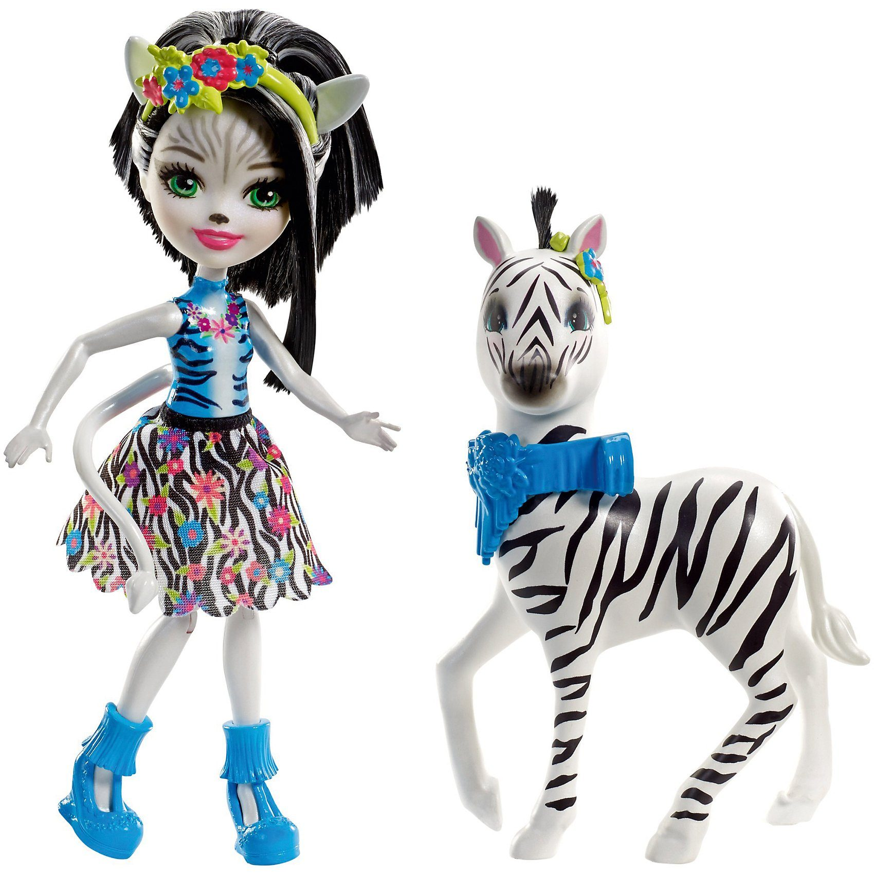 Mattel Enchantimals Themenpack Zelena Zebra