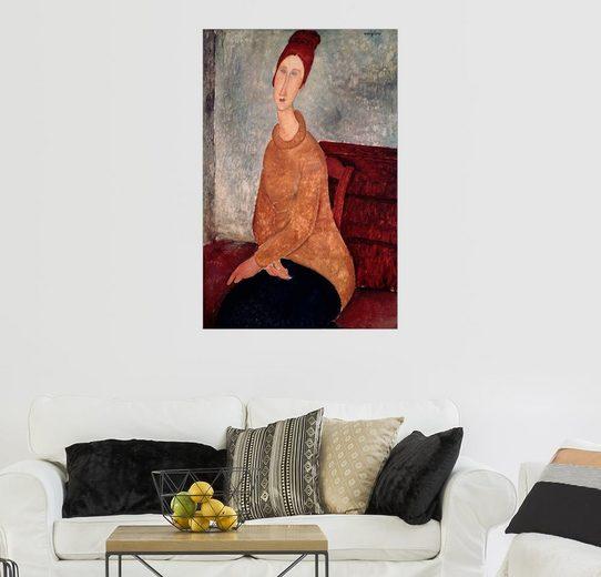 Posterlounge Wandbild - Amedeo Modigliani »Jeanne Hebuterne in einem gelben Jumper«