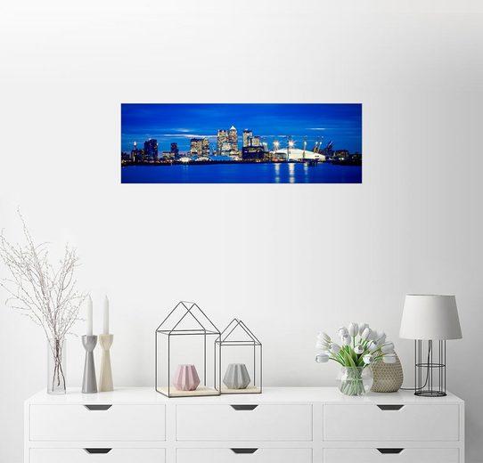 Posterlounge Wandbild - Ian Egner »Panoramablick auf die Londoner Skyline«