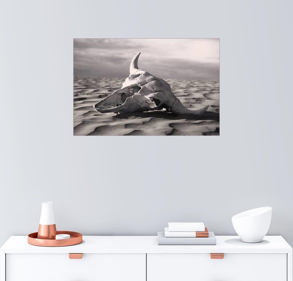 Posterlounge Wandbild - Carson Ganci »Schädel in der Wüste«