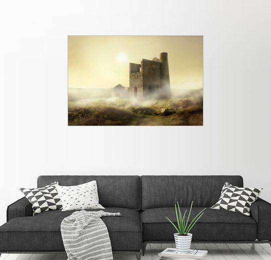 Posterlounge Wandbild - Jaroslaw Blaminsky »Nebligen Morgen in Cornwall«