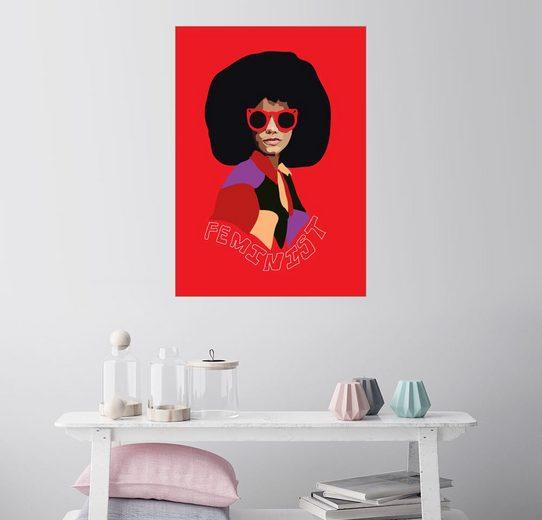 Posterlounge Wandbild - Anna McKay »Feminist Afro«