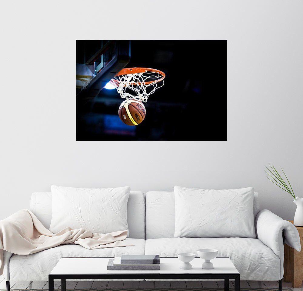 Posterlounge Wandbild »Basketballspiel«