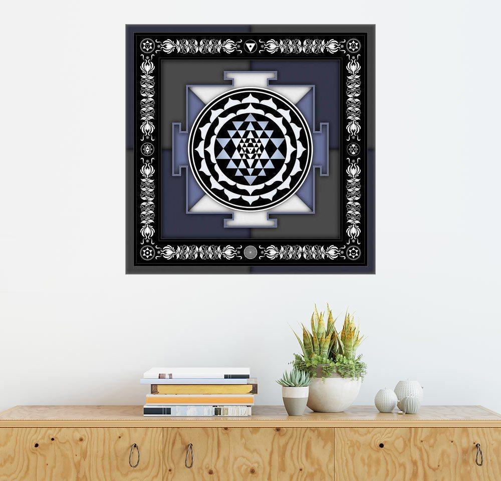 Posterlounge Wandbild - Dirk Czarnota »Sri Yantra - Artwork II« | Dekoration > Bilder und Rahmen > Bilder | Holz | Posterlounge