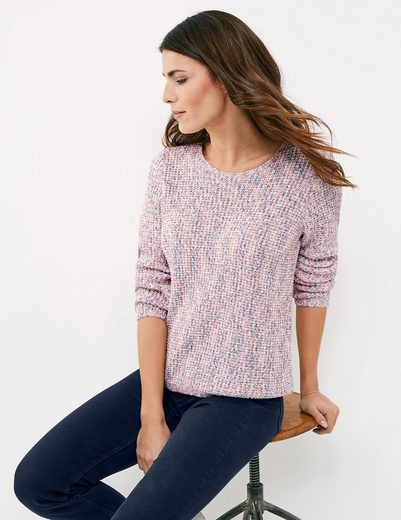 Gerry Weber Pullover Long Sleeve Crew-neck Sweater With Multicolor Optics