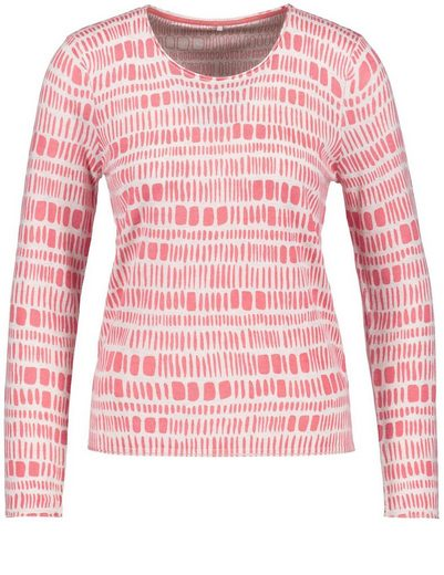 Gerry Weber Pullover Long Sleeve Crew-neck Sweater With Cashmere Share
