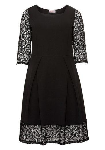 sheego Style Jerseykleid, mit transparenten Ärmeln