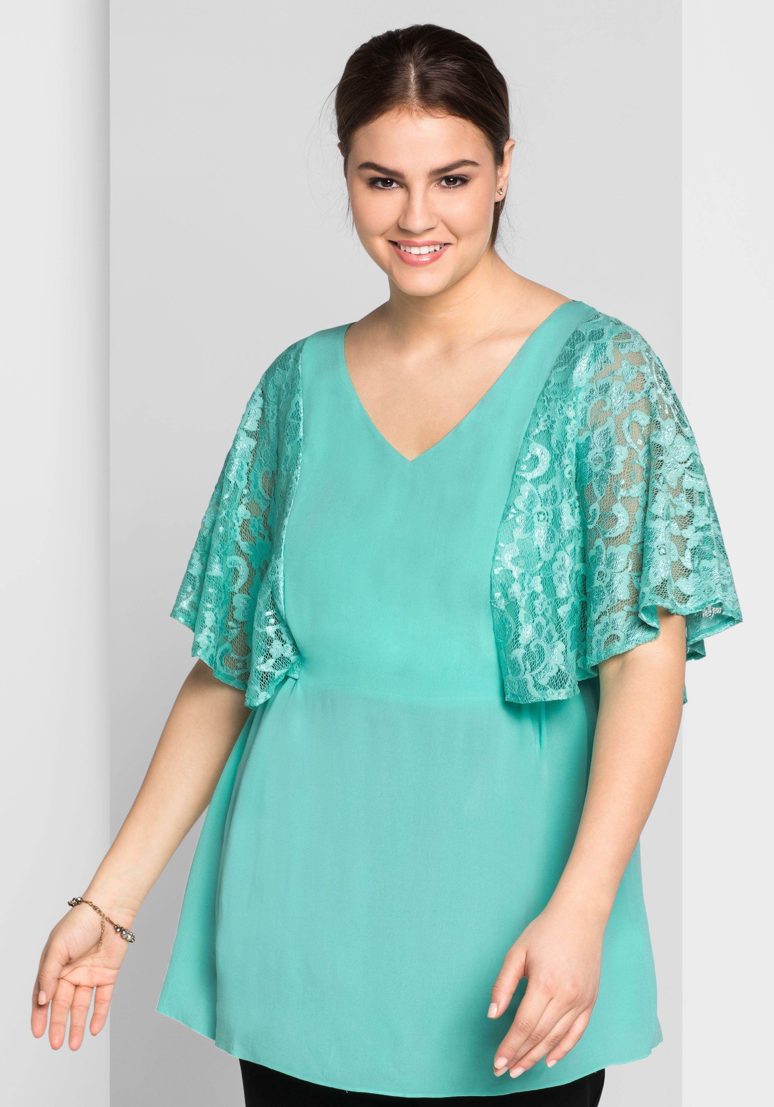 sheego Style Tunika mit dekorativem Rückenausschnitt | Bekleidung > Tuniken > Sonstige Tuniken | sheego Style