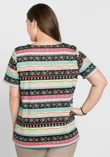 sheego Casual T-Shirt, mit individuellem Druck