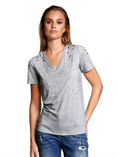 Alba Moda Shirt With Decorative Beads