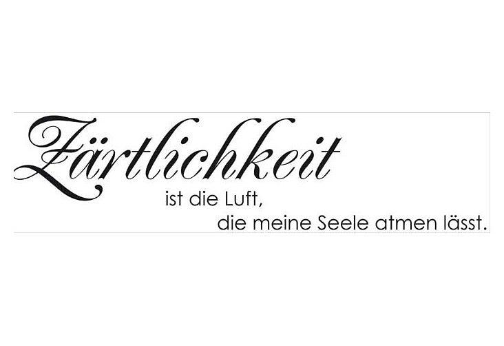 Wallslogan, Home affaire, »Zärtlichkeit«, 120/30 cm in schwarz