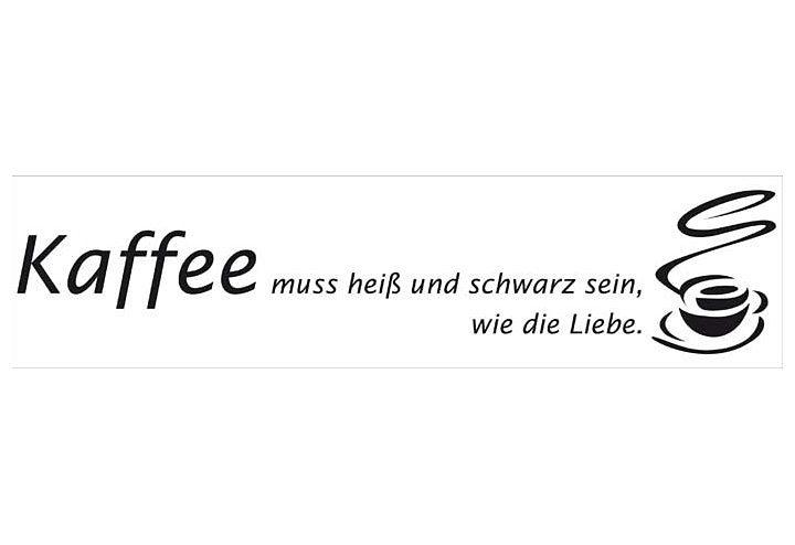 Wallslogan, Home affaire, »Kaffee«, 120/30 cm in black