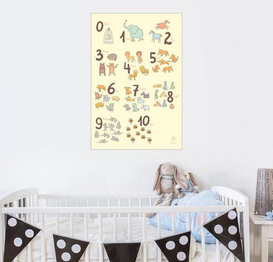 Posterlounge Wandbild - Petit Griffin »Zoological Zahlen für Kindergärten«