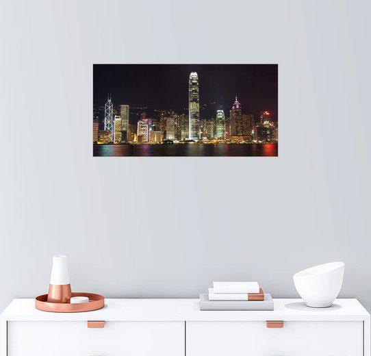Posterlounge Wandbild »Hong Kong Skyline bei Nacht mit dem Victoria ...«