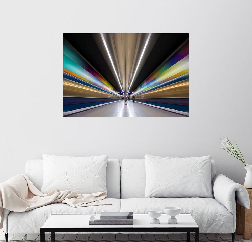 posterlounge wandbild muxpix farbexplosion ubahn m nchen online kaufen otto. Black Bedroom Furniture Sets. Home Design Ideas