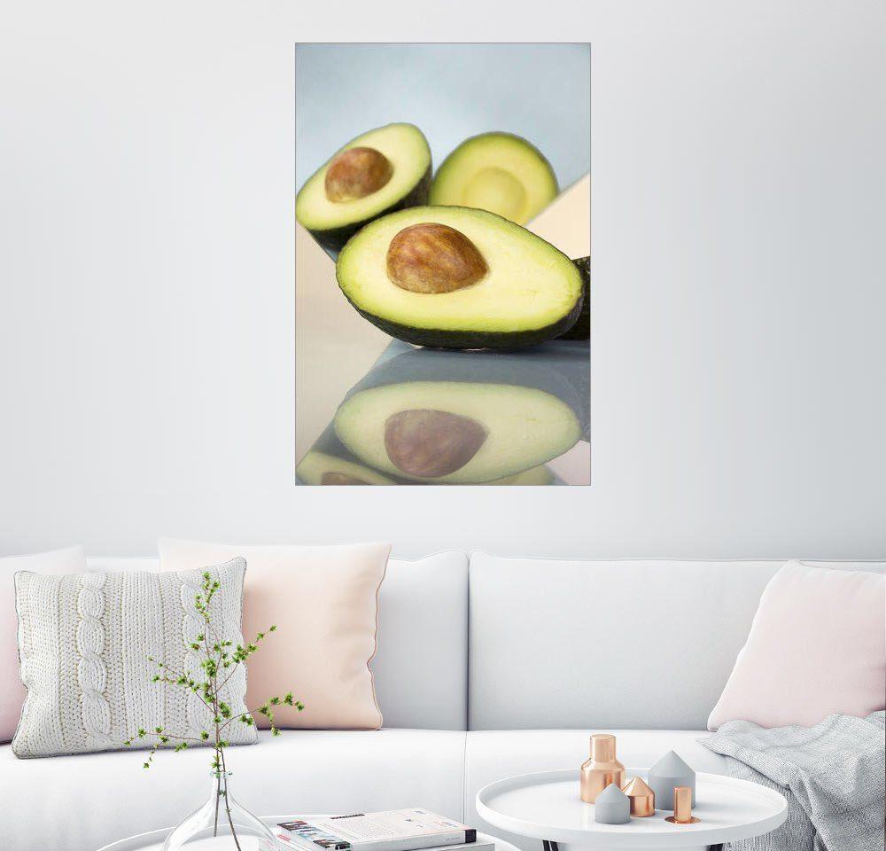 Posterlounge Wandbild - Julia Bruch »Mirror Avocado«