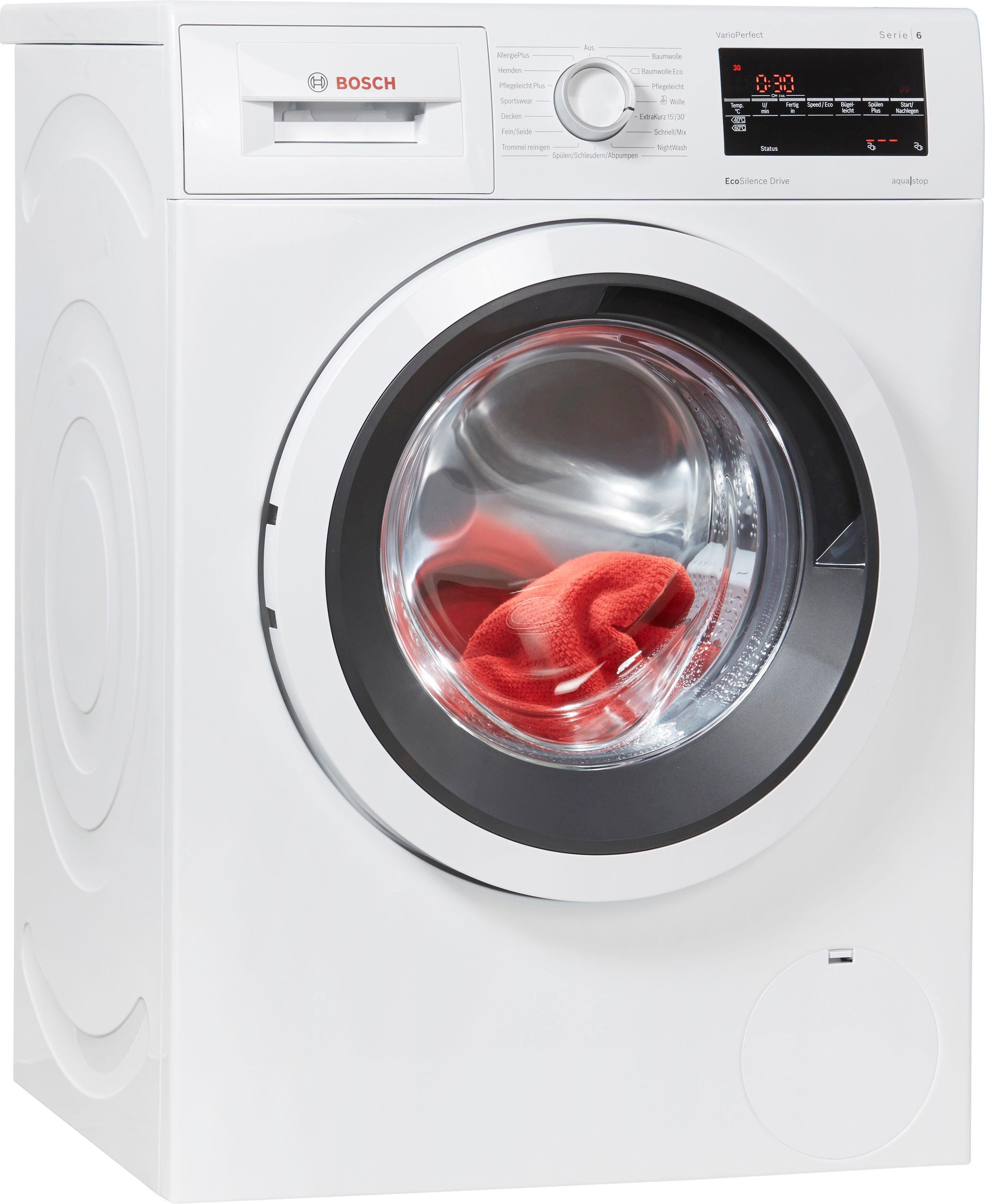 BOSCH Waschmaschine WAT284V1, 8 kg, 1400 U/Min
