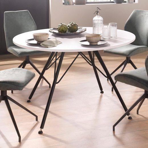 homexperts esstisch rund 100 cm durchmesser otto. Black Bedroom Furniture Sets. Home Design Ideas