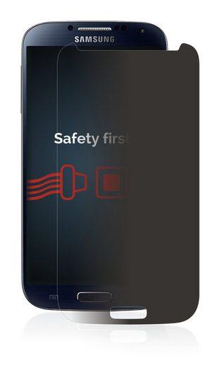 Savvies Schutzfolie »Panzerglas für Samsung Galaxy S4 Advance I9506 GT-I9506«, Schutzglas Echtglas Sichtschutz anti-spy